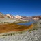 """Pangong Tso: Pangong lake in Tibetan they called """"high grassland lake""""  in Ladakh situated at a height of about 4,350 m."""