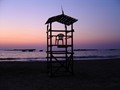 Watch tower in the dusk