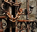 Chained Wrought Iron Gate - Port Deposit Maryland