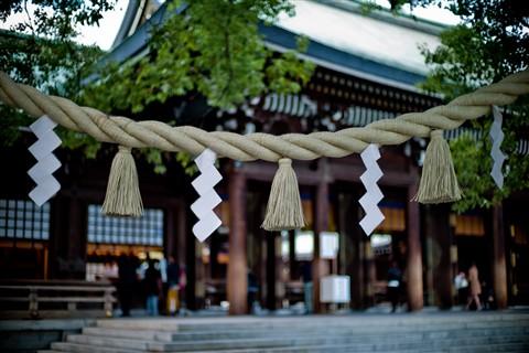 Walking in Meiji Jingu Park