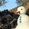 Castle snowman