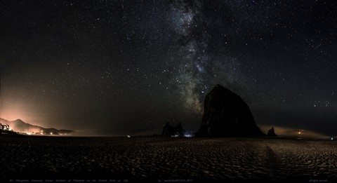 Cannon Beach Haystack Rock mamiya 55mm Aug 25 26 2015_10_stitch_102 frames Mercator Projection Crop Dark As Naked Eye Final Levels Adjust 5000 pxl
