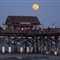 Moon over Pier at Cocoa Beach