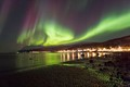 High ISO is required here so that the structures in the rapidly changing aurora do not get blurred.