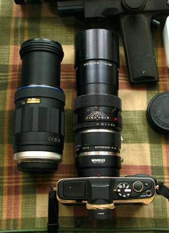 Oly 75-300mm f5.6-6.7 vs Leica 180mm f3.5 + 2x + converter