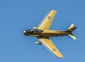Canadair CL-113 Sabre, the canadian version of the North American F-86 Sabre painted in the Golden Centennaire scheme.