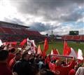 Oh Canada. Opening ceremonies Canada vs. Peru, Toronto 4/9/10. Final score 0-2