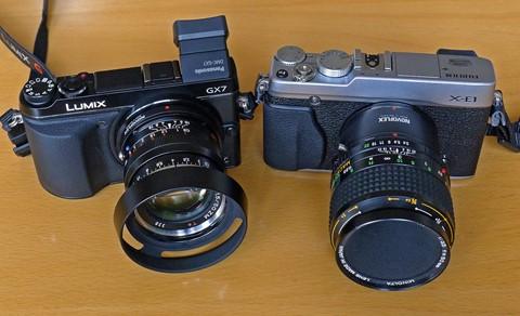 GX7 and X-E1