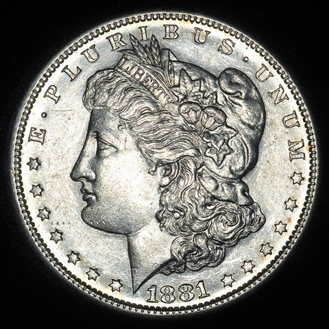 Morgan Dollar with Axial Lighting