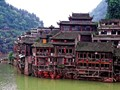 Houses on stilts, FengHuang ancient town, China