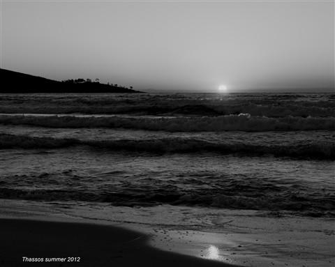 sunrise b&w