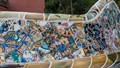 Detail from Gaudi's Serpentine Bench in Parc Guell, Barcelona