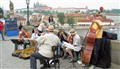 Prague. Charles's Bridge. Jazz.