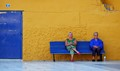 TWO WOMEN ON A BENCH