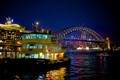 Sydney Harbour Bridge at night from Circular Quay