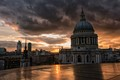 Storm Clouds Over St Pauls Cathedral.