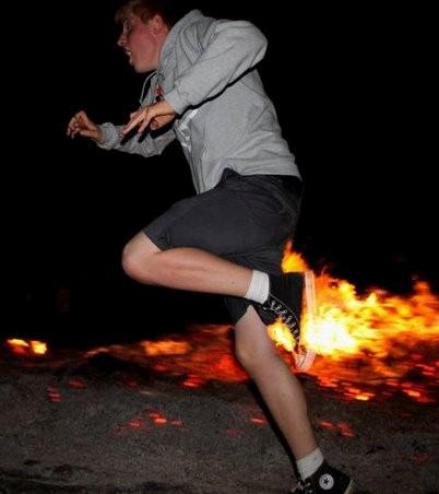 Ild i røven