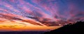Sunset at Montevecchia, Northern Italy