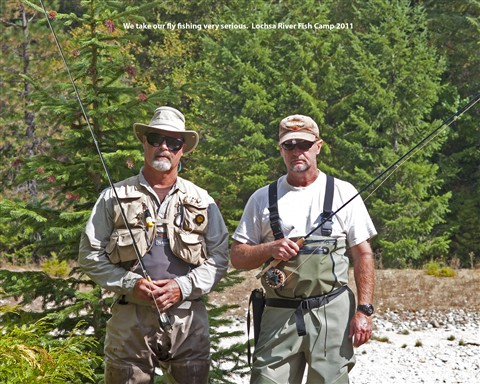 Kev and doug fish camp 2011
