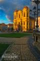 Catholic Dome at sunset