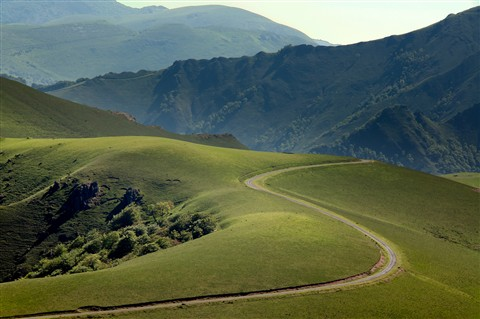 Mountain road, Pyrenees
