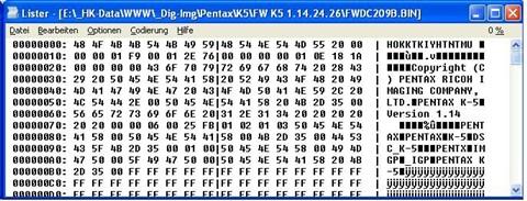 Pentax FW Vers