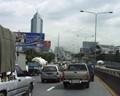 Bangkok Traffic Rama 9 Bridge