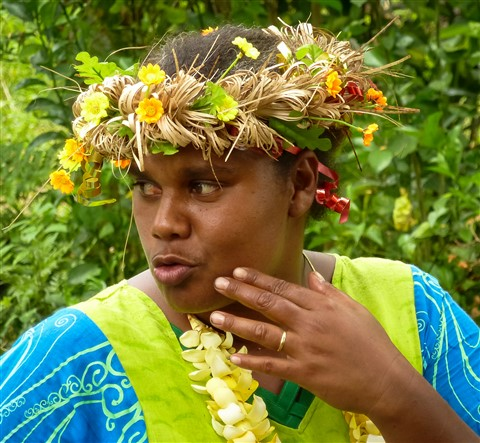 Tour guide, Hnathalo village, Ile de Lifou, New Caledonia