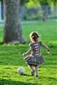 Callay chasing soccer ball