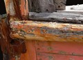 Section of an old boat hull