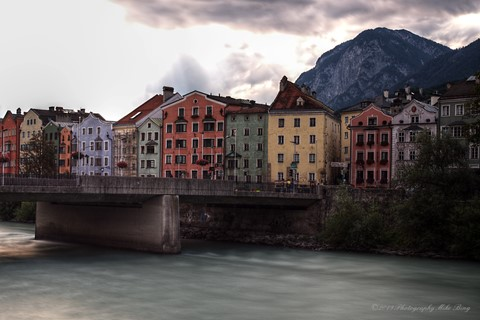 Slowtography across the Inn river