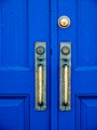 Blue doors with Locks & Handles