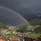 Rain (and two Rainbows) in St.Christina, Val Gardena, Italy: