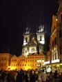 Prague, Old Town Square at night.