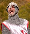 Knight Yelling forward Men!
