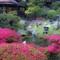 Tea house and azaleas