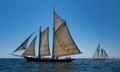 Sailing Ships in Open Ocean