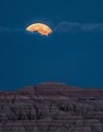 Harvest Moon over the Badlands