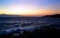 sea boiling, sun rises