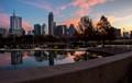 Reflections of Austin skyline
