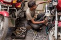 The workshop-no-Motor cycle Repair man,