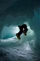 Entering the crevasse