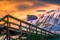 Flag in Florida Sunset