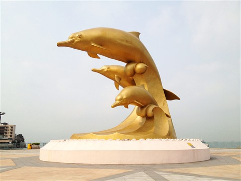 Golden dolphins