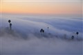 Rolling fog, San Clemente, Ca.