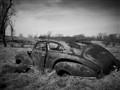 B & W Old Car