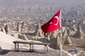 Turkish Flag over Cappadocia