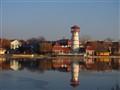Oroshaza lake in winter