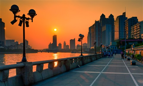 Guangzhou Pearl River sunset