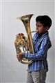 A boy and his tuba